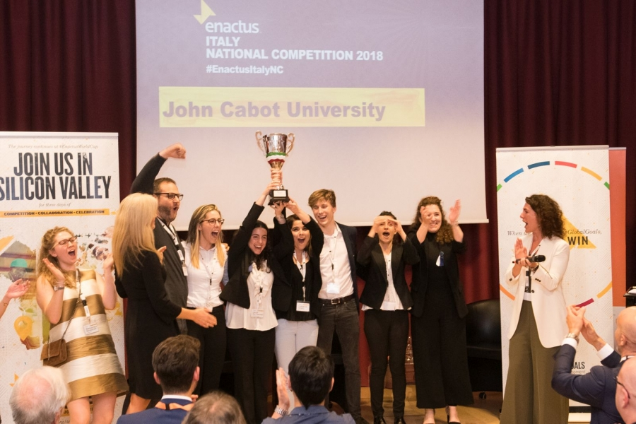 Il team della John Cabot University vince la seconda Enactus Italy National Competition